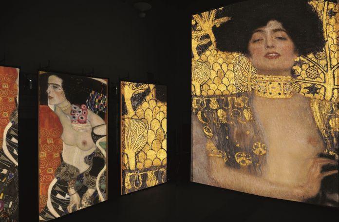 G. Klimt, Giuditta I, olio su tela, 1901, Oesterreichische Galerie im Belvedere, Vienna. G. Klimt, Giuditta II, olio su tela, 1909, Galleria Internazionale d'Arte Moderna Ca' Pesaro, Venezia