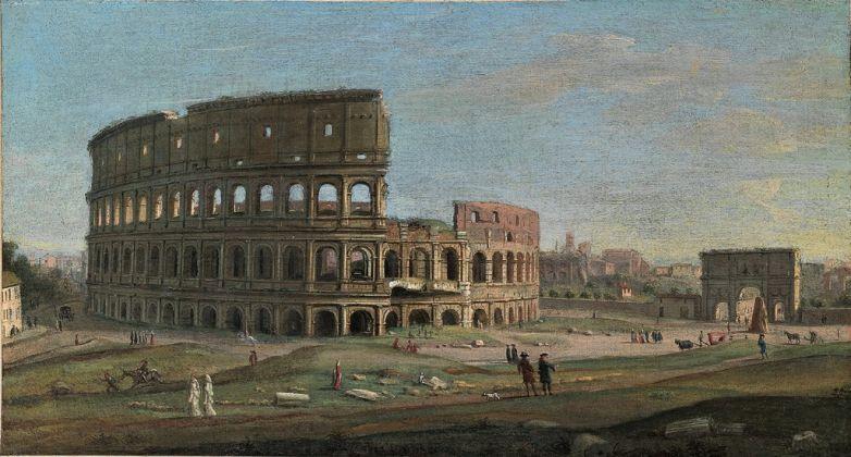 Gaspar van Wittel, Il Colosseo e l'Arco di Costantino, anni '30 del XVIII sec. Antichità Alberto Di Castro. Courtesy Antichità Alberto Di Castro, Roma