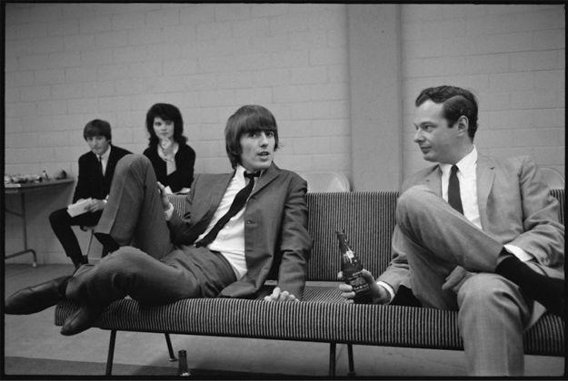 George Harrison e Brian Epstein
