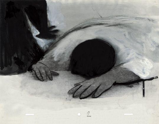 Gianluigi Toccafondo, La piccola russia, 2004, disegno tratto dalla sequenza per il cortometraggio omonimo (produzione ARTE France, Fandango, studio nino