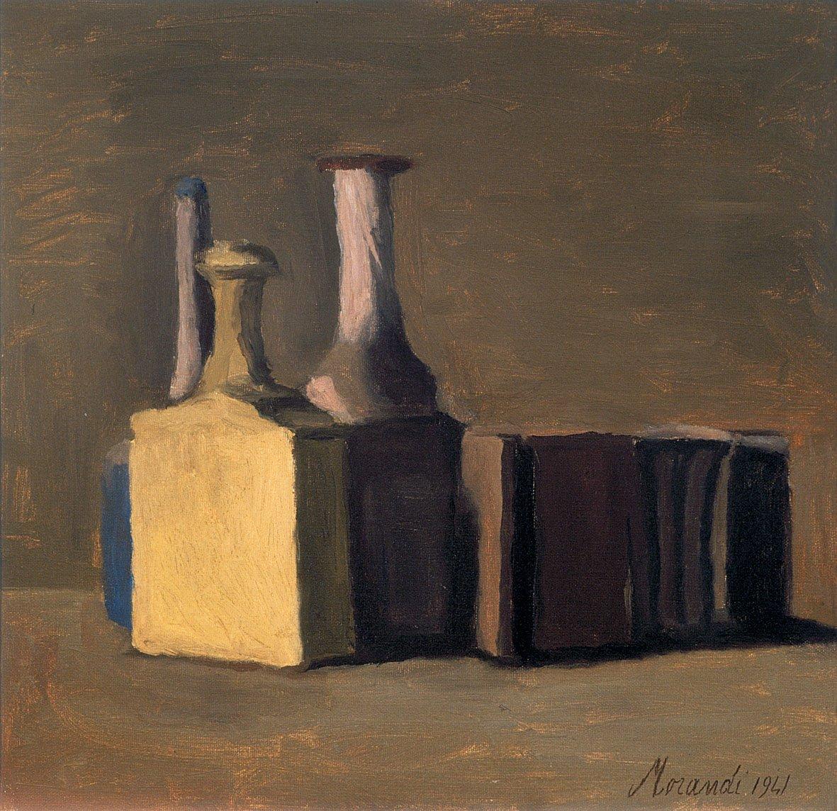 Giorgio Morandi, Natura morta, olio su tela, 1941. Fondazione Cassa di Risparmio di Verona Vicenza Belluno e Ancona