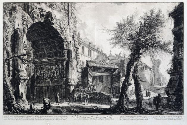 Giovanni Battista Piranesi, Arco di Tito, 1756 1760, acquaforte, Museo di Roma