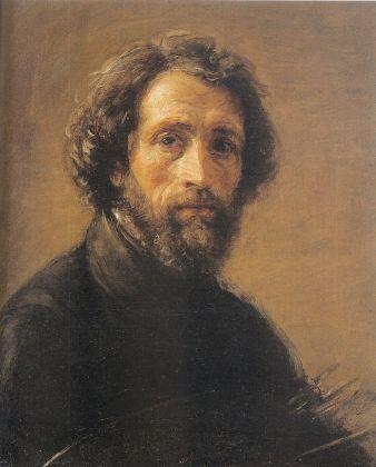 Giovanni Carnovali detto il Piccio, Autoritratto con tavolozza e pennelli, 1855 56 ca., olio su tela. Bergamo, collezione privata