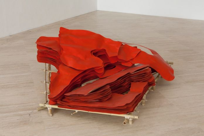 Giuseppe Gabellone, Untitled (Orange), 2017, photo Silvia Iessi