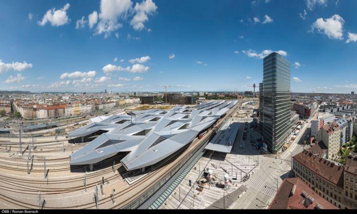 Hauptbahnhof Wien (pensiline dall'alto) © ÖBB Roman Bönsch