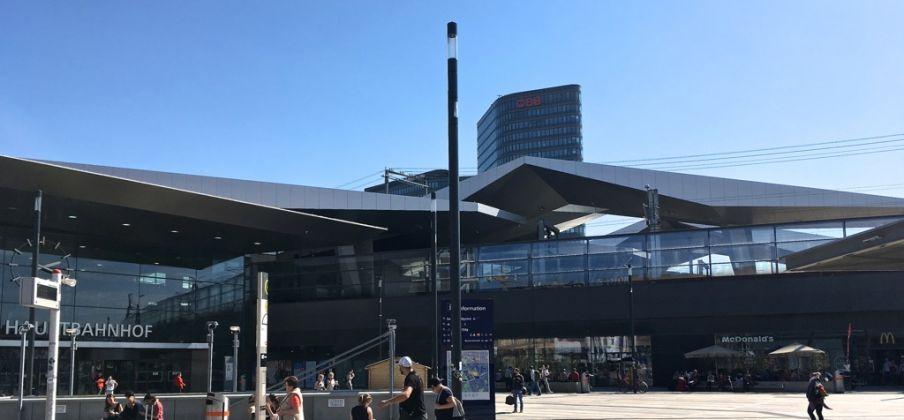 Hauptbahnhof Wien (piazzale d'accesso). Photo FT&T Vienna