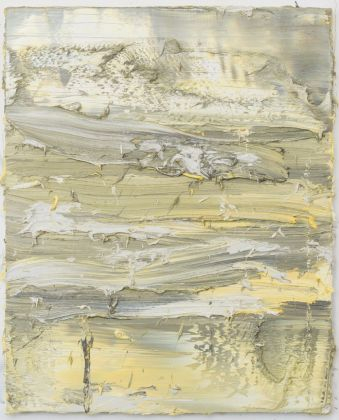 Jason Martin, Untitled (Permanent Yellow Titanium white French grey), 2017