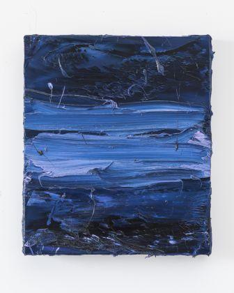 Jason Martin, Untitled (Prussian blue Cobalt violet), 2017