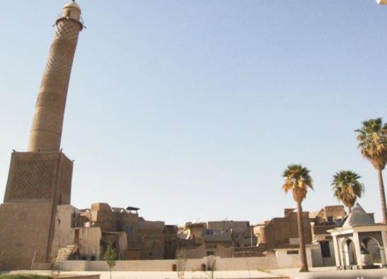 La moschea Al-Nuri di Mosul nel 2013