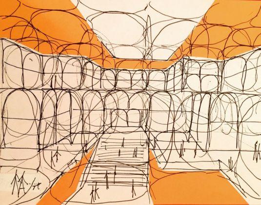 Visualizzazione dello spazio interno per il Parlamento Europeo di Straburgo Anni Settanta Courtesy Marianne Polonsky Collection