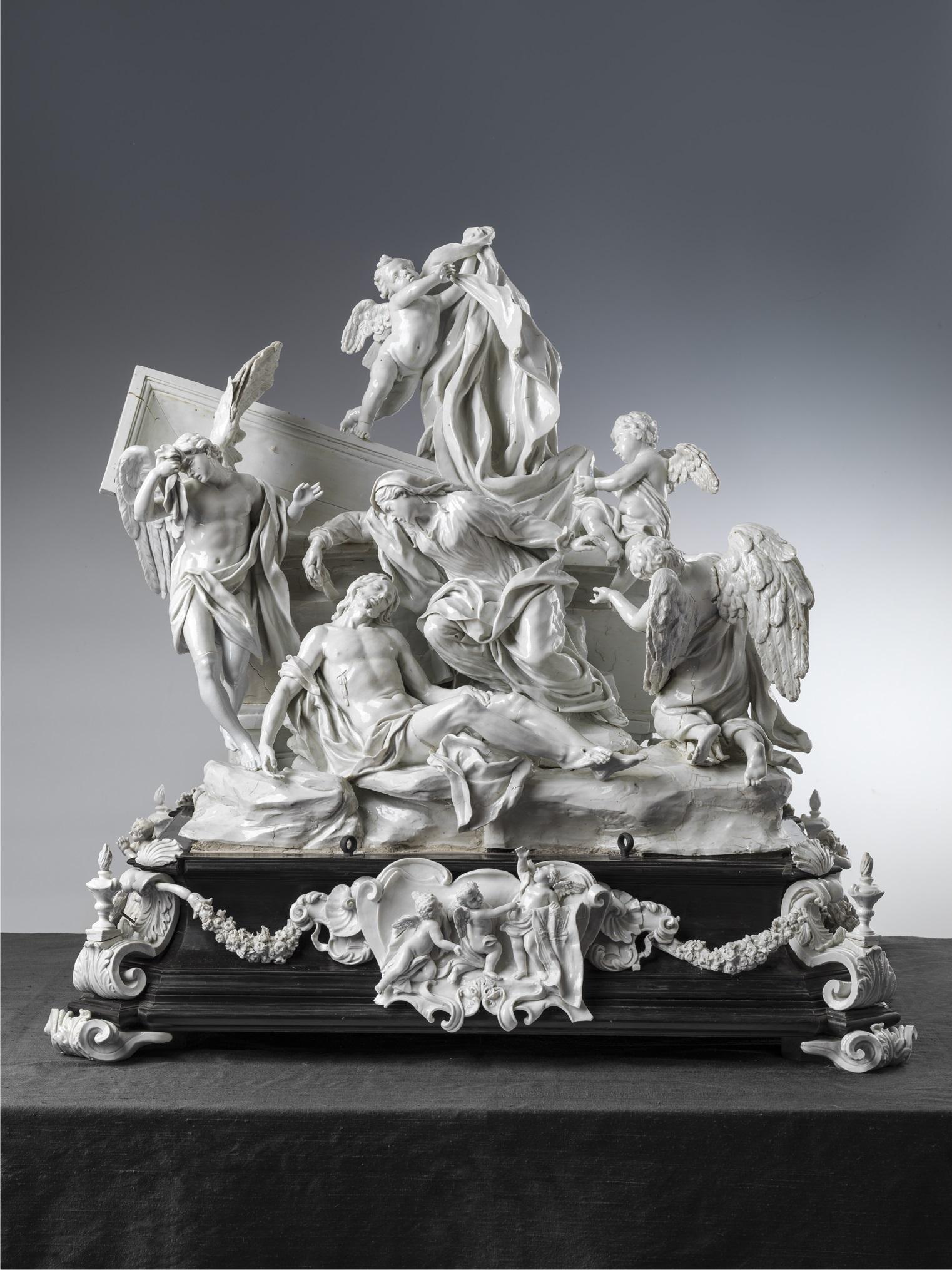 Manifattura di Doccia, Gaspero Bruschi, Compianto sul corpo di Cristo, o Pietà (da Massimiliano Soldani Benzi), 1744-45, Porcellana. Firenze, Galleria Corsini