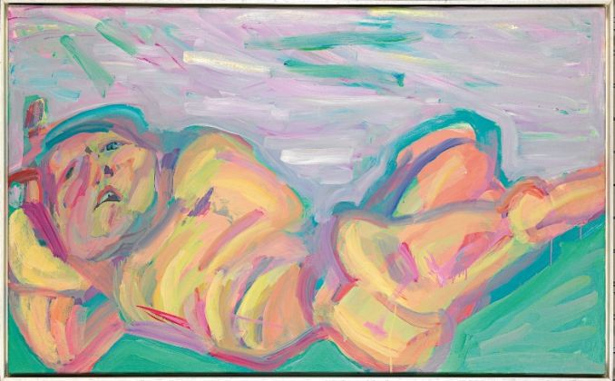 Maria Lassnig, Die Liegende, 1982. Albertina, Vienna. The Essl Collection