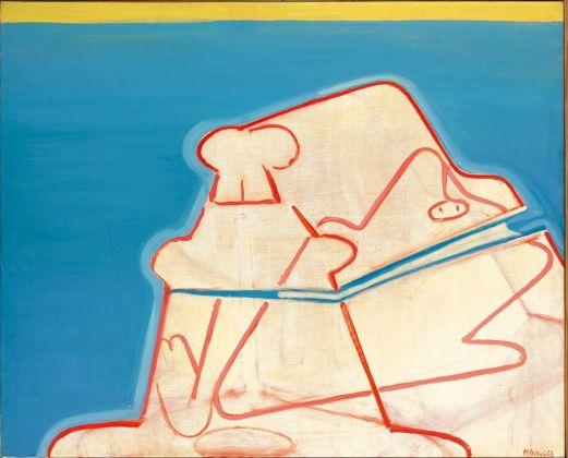 Maria Lassnig, Gespenstertruhe, 1963 67. Albertina, Vienna. The Essl Collection