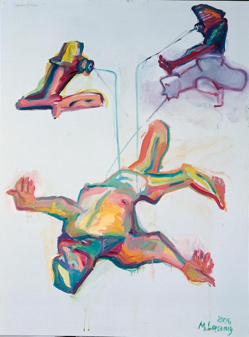 Maria Lassnig, Ideenfischer, 2001. Albertina, Vienna. The Essl Collection