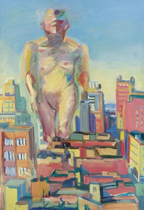 Maria Lassnig, Woman Power, 1979. Albertina, Vienna. The Essl Collection