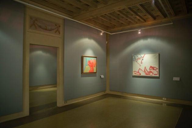 Maria Lassnig. Woman Power. Exhibition view at Palazzo Pitti, Firenze 2017