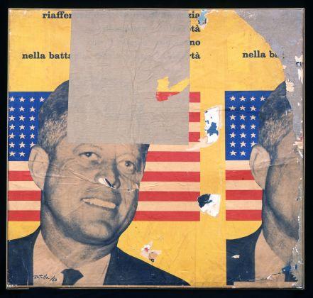 Mimmo Rotella, Viva America, 1963. Collezione privata © Courtesy Fondazione Marconi, Milano