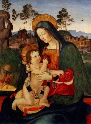 Pinturicchio, Madonna con il Bambino, olio e tempera su tavola, 1495. Fondazione Cassa di Risparmio di Perugia