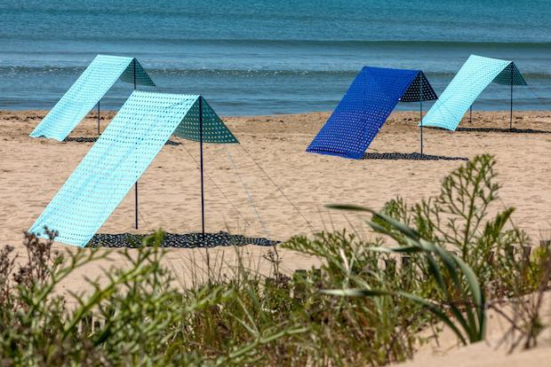 Pyramides de plage, photo Jules Langeard