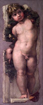 Raffaello, Putto reggifestone, s.d., affresco, Accademia Nazionale di San Luca, Roma