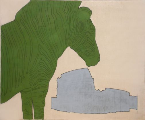 Renato Mambor, Zebra e Colosseo, 1965. Roma, Collezione Dello Schiavo. Courtesy Collezione Dello Schiavo, Roma