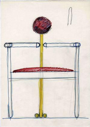 Schizzo di Vico Magistretti, Pan, prod. Rosenthal Studio Linie, 1980 © Fondazione studio museo Vico Magistretti