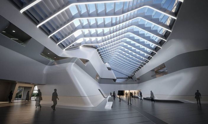 Stazione AV di Napoli Afragola © Zaha Hadid Architects
