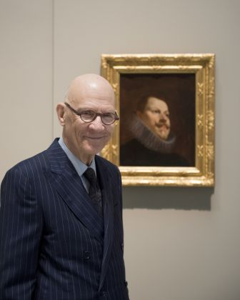 William B. Jordan, donor of the painting, next to Philip III by Velázquez © Museo Nacional del Prado.