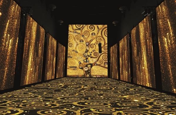 Particolare e texture ispirate a G. Klimt, L'albero della vita, dal Fregio per Palazzo Stoclet a Bruxelles