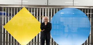 Daniel Buren, 'Diamonds and Circles' works 'in situ'. Photo Benedict Johnson