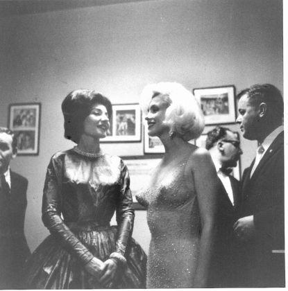 Avec Marilyn Monroe à l'anniversaire de JFK 1962 Fonds de Dotation Maria Callas