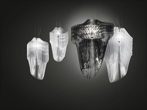 Aria & Avia Lamps, Slamp 2013, photo courtesy of Slamp