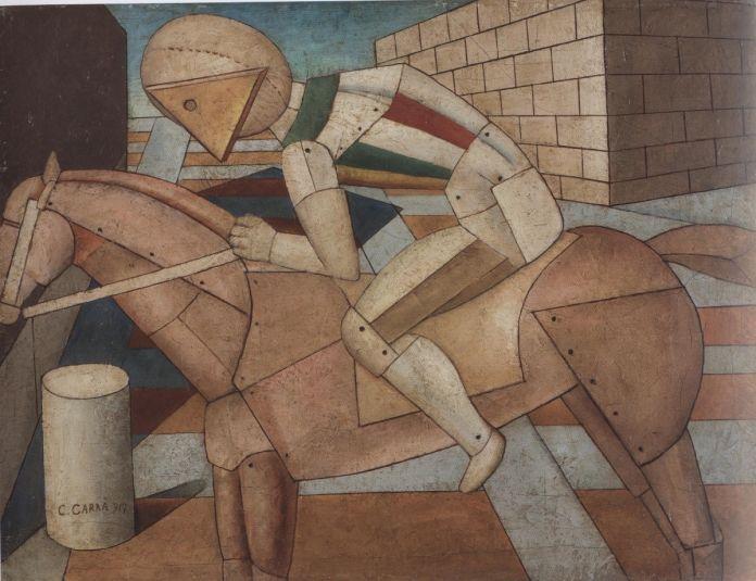 Carlo Carrà, Il cavaliere dello spirito occidentale (1917)