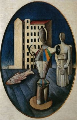 Carlo Carrà, L'ovale delle apparizioni (1918)