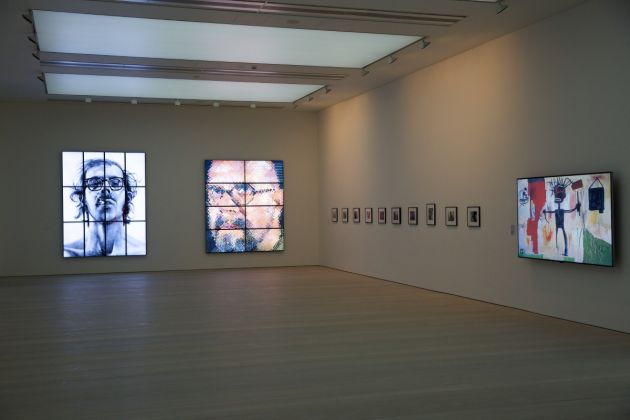From Selfie to Self Expression, installation view, Chuck Close, Cindy Sherman and Basquiat © Piers Allardyce 2017, Image courtesy of the Saatchi Gallery, London