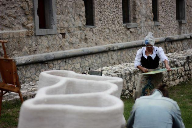 Fuocoapaesaggio, Forte di Monte Ricco, Alessandro Sambini. Foto di Brando Prizzon