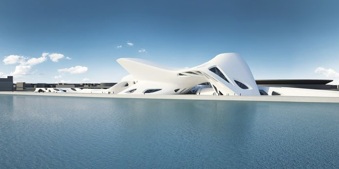 Nuragic And Contemporary Art Museum (Cagliari) 2006 - TBC Render, Courtesy Zaha Hadid Architects