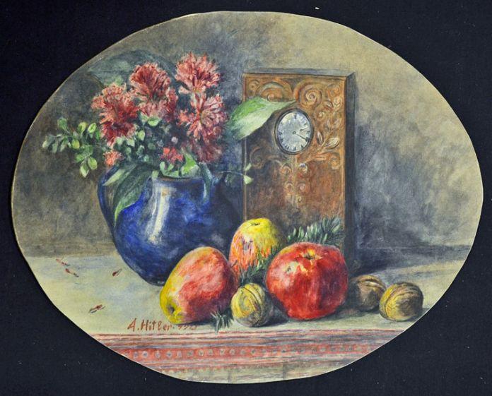 Adolf Hitler, Natura morta con frutta e orologio