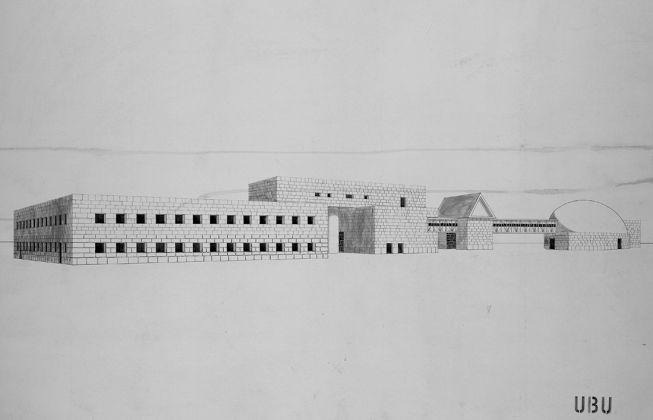 Aldo Rossi, M. Fortis, M. Scolari, progetto di concorso per il palazzo comunale, Scandicci, 1968, ©2017 Eredi Aldo Rossi