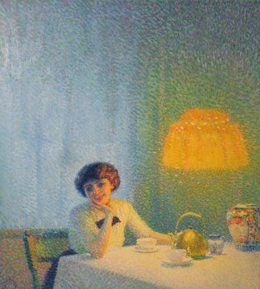 Aleardo Terzi, Meriggio d'autunno, 1913. Collezione privata