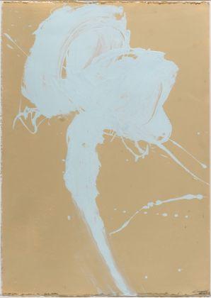 Alessandro Twombly, Figures in the desert (5/8), 2017, acrilico su carta, 106 x 76 cm