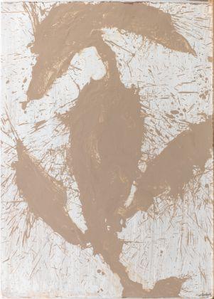 Alessandro Twombly, Figures in the desert (8/8), 2017, acrilico su carta, 106 x 76 cm