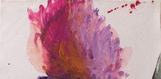 Alessandro Twombly, Senza titolo, 2016, acrilico su carta, 102 x 70 cm