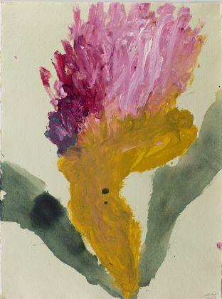 Alessandro Twombly, Senza titolo, 2016, acrilico su carta, 75 x 55 cm