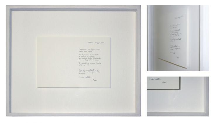 Tea Andreoletti, Invito a pranzo, luglio 2017, inchiostro su carta di cotone, 32 x 38 x 5 cm