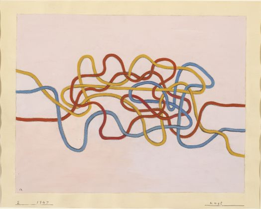 Anni Albers, Knot, 1947, Gouache on paper, The Josef and Anni Albers Foundation, Bethany CT, Photo Tim NighswanderImaging4Art © The Josef and Anni Albers Foundation, VEGAP, Bilbao, 2017
