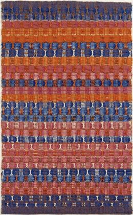 Anni Albers, Red and Blue Layers, 1954, Cotton, The Josef and Anni Albers Foundation, Bethany CT, Photo Tim NighswanderImaging4Art © The Josef and Anni Albers Foundation, VEGAP, Bilbao, 2017