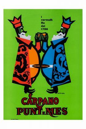 Armando Testa, Due Re Carpano, 1949 Courtesy Collezione Gemma De Angelis Testa