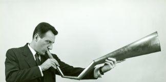 Arrigo Lora Totino e l'idromegafono, 1968, credits Fondazione Bonotto
