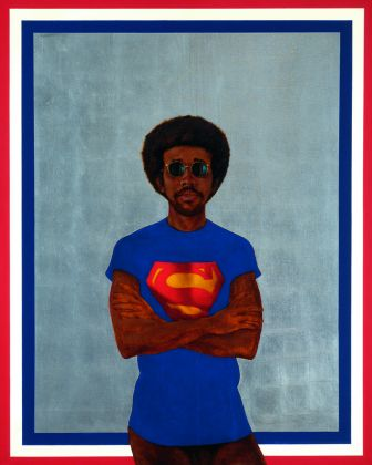 Barkley Hendricks, Icon For My Man Superman (Superman Never Saved Any Black People Bobby Seale), 1969, Collection of Liz and Eric Lefkofsky